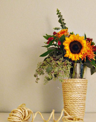 DIY Sisal Rope Centerpieces from Ruffled blog