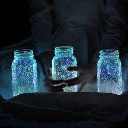 Glow-paint-mason-jars