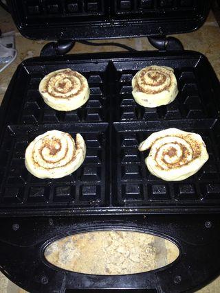 Cinnamon Roll Waffles 1