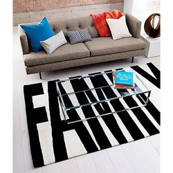 Family-black-and-white-rug-cb2