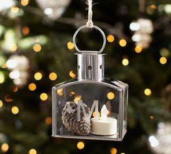 Silver lantern ornament