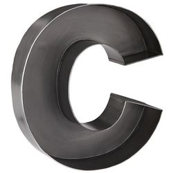 C-magnificent-metal-letter